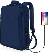 REYLEO Zaino Uomo Donna per Computer Portatile con Porta USB - Zaino in Nylon Ideale per Ufficio, Lavoro e Scuola Business Laptop Backpack (Blu)