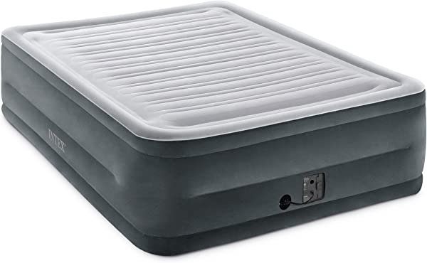 Intex Comfort Plush Elevated Dura Beam Airbed With Internal Electric Pump Bed Height 22 Queen