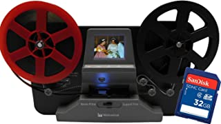 "Wolverine 8mm and Super8 Reels Movie Digitizer with 2.4"" LCD, Black (Film2Digital MovieMaker), Includes 32GB SD Memory Car..."