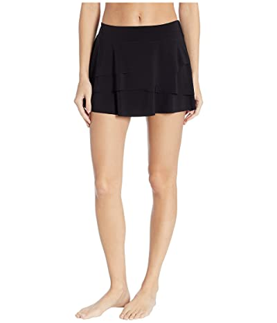 Miraclesuit Layered Ruffle Skirt (Black) Women