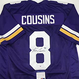 Autographed/Signed Kirk Cousins Minnesota Purple Football Jersey PSA/DNA COA