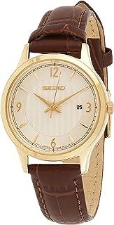 ساعة كوارتز للنساء من سيكو - بعرض انالوج وسوار جلدي SXDG96P1
