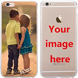 Depthlan Custom Phone Case for iPhone 8 / iPhone 7, Personalized Photo Phone Case, Soft Protective TPU Bumper, Customized Cover Add Image Painted Print Text Logo Picture