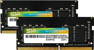 シリコンパワー ノートPC用メモリ DDR4-3200(PC4-25600) 16GB×2枚 260Pin 1.2V CL22 永久保証 SP032GBSFU320F22