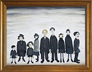 Framed L.S. Lowry Giclee Canvas Print Paintings Poster Reproduction(The Funeral Party)