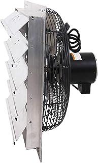 "Fanpac S203 Wall-Mounted 3 Speed Shutter Exhaust Fan, 20"", Gray"