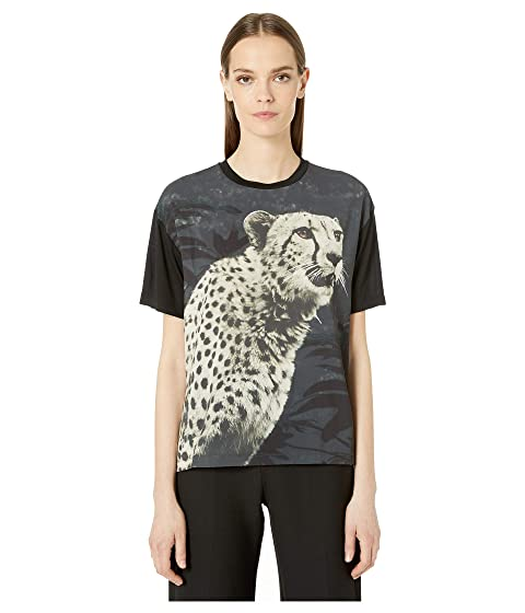 Paul Smith Cheetah Mixed Fabric Tee