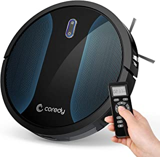 Best Coredy Robot Vacuum Cleaner, Fully Upgraded, Boundary Strip Supported, 360° Smart Sensor Protection, 1400pa Max Suction, Super Quiet, Self-Charge Robotic Vacuum, Cleans Pet Fur, Hard Floor to Carpet Review