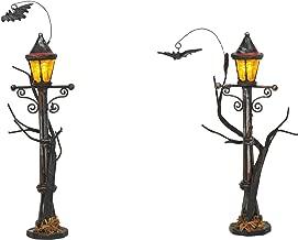 Department 56 Village Collections Accessories Halloween Haunted Street Lights Figurines, 4.875
