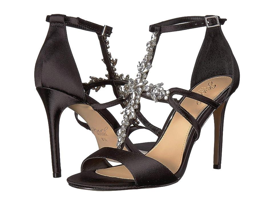 Jewel Badgley Mischka Galvin (Black Satin) High Heels