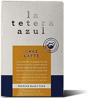 LA TETERA AZUL Té Negro Con Jengibre Y Canela. Infusión Baja En Teína. Té De Canela. Chai Latte. 20 Bolsitas De 2 Gramos.