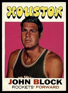 Basketball NBA 1971-72 Topps #16 John Block EX Excellent Rockets