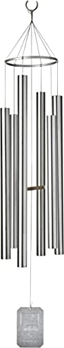 popular Grace Note Chimes 5L 54-Inch Island Melody high quality Wind Chimes, Large, online sale Silver outlet sale