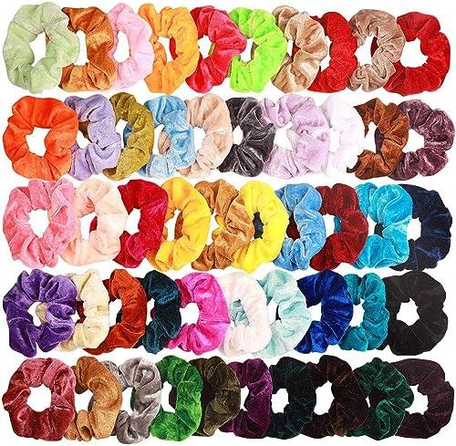 Lot de 20 Chouchous en Velours cheveux élastique bandes Chouchou Cheveux Ties Cordes Chouchou Accessoires Cheveux pou...