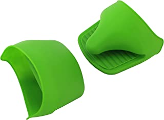 VINSTAR Silicone Mini Oven Mitts/Gripper, Set of 2 (Green) …