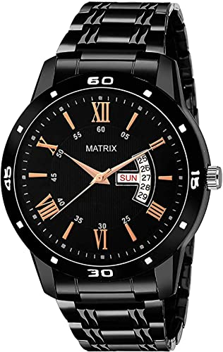 MATRIX Analogue Men s Watch Black Dial Black Colored Strap