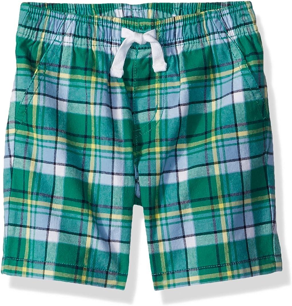 Gymboree Boys' Toddler Drawstring Woven Plaid Shorts