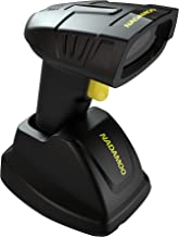 NADAMOO Wireless Barcode Scanner with Charging Cradle, Read 1D, 2D, QR Code, Data Matrix, PDF417, 400m Transmission Distance, 2200mAh Rechargeable Battery, Cordless CMOS Image Reader for Computer