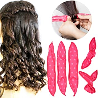 Pillow Hair Rollers No Heat, 30pcs Night Sleep Foam Hair Curler Rollers, Flexible Soft Hair Rollers, DIY Sponge Hair Styling Rollers Tools