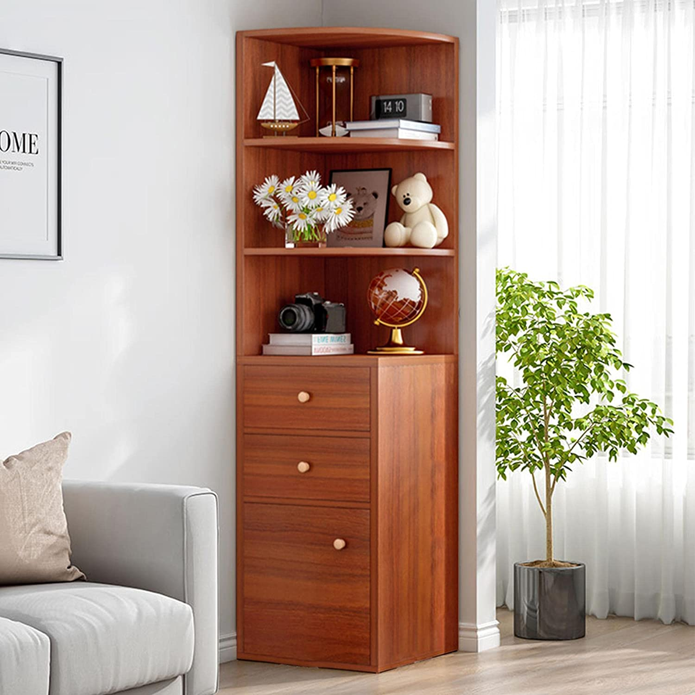 AIBEN Standing Tall Corner Bookshelf Rack Display Unit Ranking TOP14 Storage Manufacturer OFFicial shop f