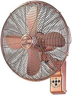 YSDHE Ventilador De Pared De 16 Pulgadas, Ventilador De Pared Giratoria, Ventilador De Metal Retro con Control Remoto Y Función De Sincronización
