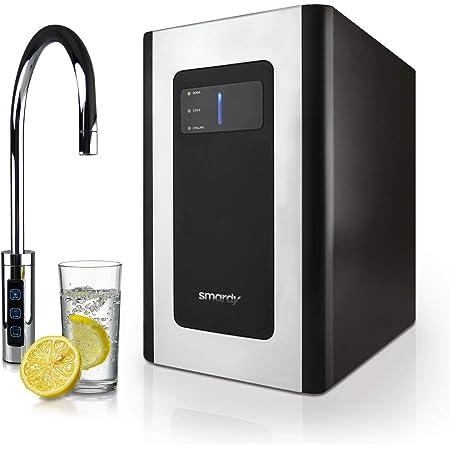 smardy blue Soda & Cool Machine à soda pour bouteille de CO2 425g avec ultrafiltration en 2 étapes pour eau plate, refroidie et pétillante Bullets