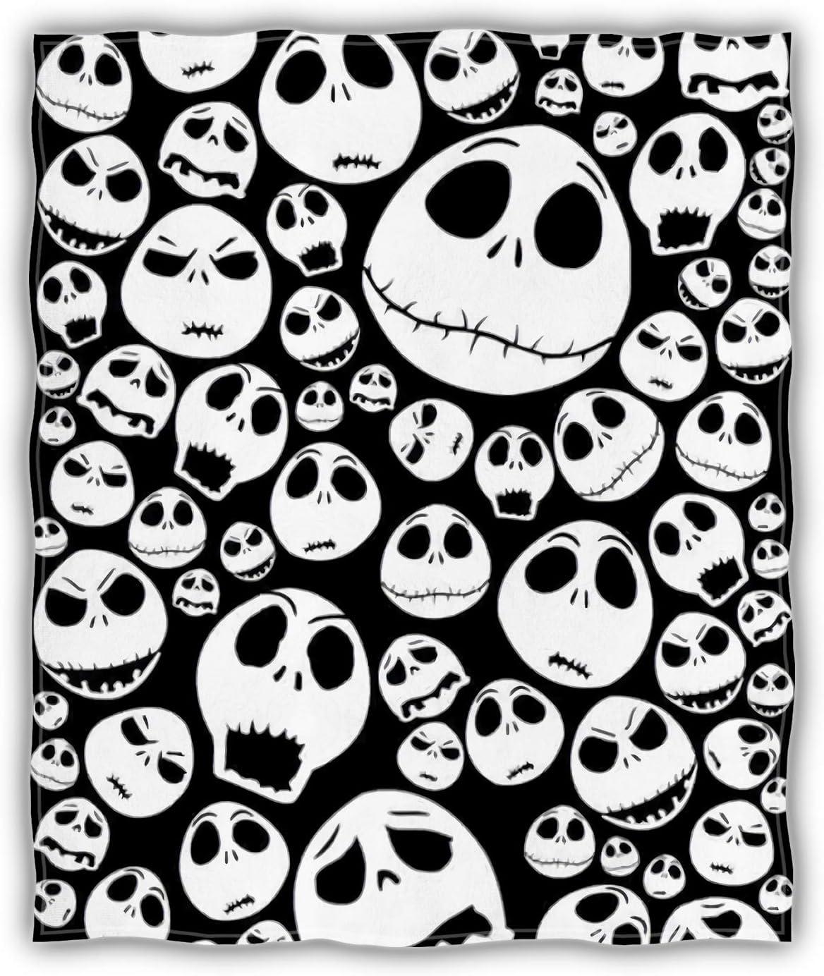 Max 64% OFF ArmuPrint Thick Black Sugar Skull Blanket x Size Soft 60