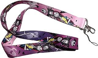 SuperSenter Premium Lanyard Nightmare Before Christmas Cartoon Themed Purple - Hook & Phone String - Keychains or ID Badge Holders