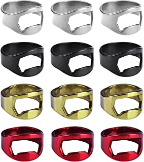 Aspire 12 PCS Ring Bottle Openers Stainless Steel Finger Beer Opener Bar Tools Party Favors