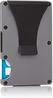 roco minimalist aluminum slim wallet rfid blocking clip