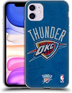 Official NBA Distressed Oklahoma City Thunder Soft Gel Case Compatible for iPhone 11