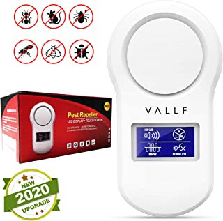 VALLF Ultrasonic Pest Repeller Plug in - All in One Mosquito Repellent, Bed Bug Killer, Mouse Trap, Ant Trap, Roach Trap, Flea Trap, Spider Trap, and Much More - Nontoxic Insect and Rodent Repellent