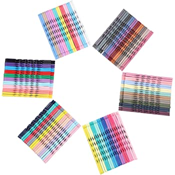 Justbuy 2.17 Inch Multi Colored Hair Pins Metal Spiral Twist Bobby Pins Hair Barrettes for Women Girls 120pcs (Mixed Color B)