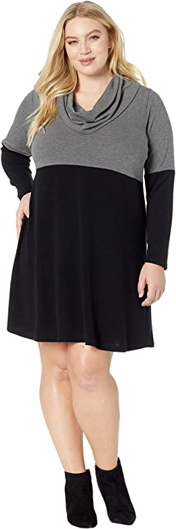 Plus Size Cowl Neck Taylor Dress