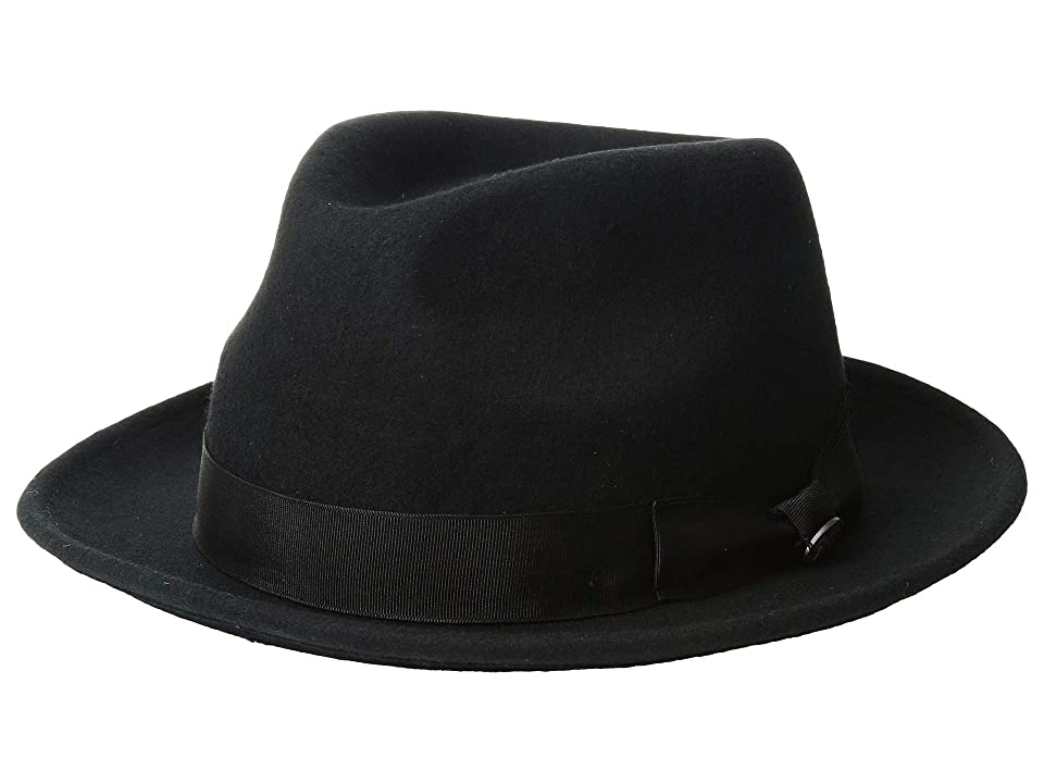 1940s Mens Hat Styles and History Bailey of Hollywood Maglor Black Caps $55.00 AT vintagedancer.com