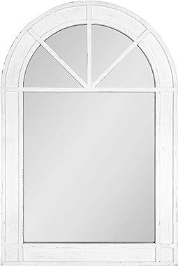 Kate and Laurel Stonebridge Rustic Arch Mirror, 24x36, White