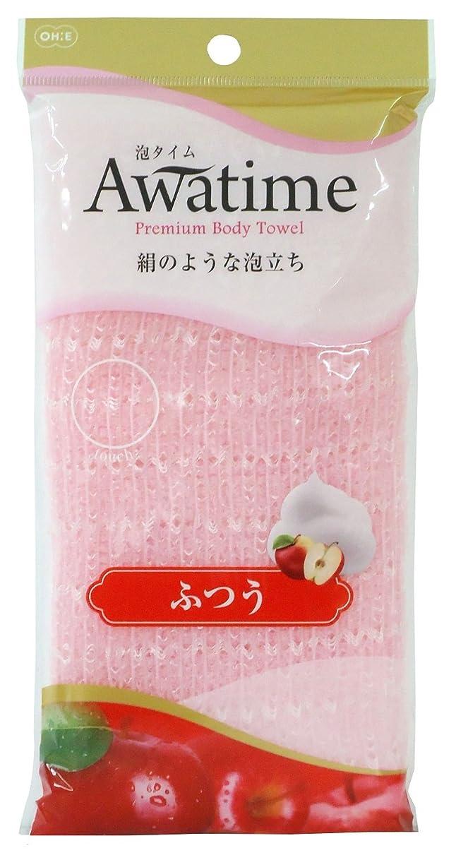 定義するサワー可塑性オーエ 泡タイム ボディ タオル ふつう ピンク 約22×100cm 絹のような 泡立ち