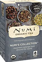 Numi Organic Tea Numi's Collection Variety Pack, 16 Count Box of Tea Bags (Pack of 6) - Black, Green, White, Pu-erh, Mate,...