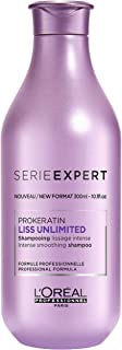 LOreal Paris Serie Expert PrOkeratin Liss Unlimited Shampoo by LOreal Professional for Unisex - 10.1 oz Shampoo, 300 ml