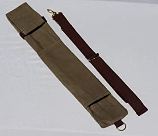 Campcraft Outdoors Axe and Saw Sling, Bushcraft Axe Carrier, Waxed Canvas