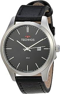Relógio Technos, Pulseira de Couro, Masculino Preto 2115MSGS/0P