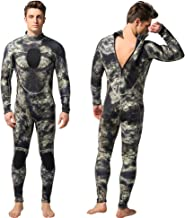 Nataly Osmann Mens 3mm Wetsuits Camo Neoprene Full Body Diving Suits One Piece Spearfishing Suit