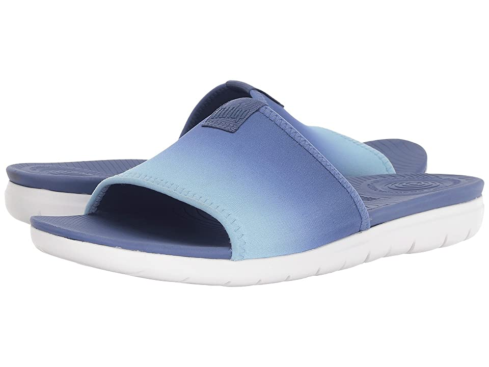 FitFlop Neoflex Pool Slide Sandals (Indian Blue/Turquoise) Women