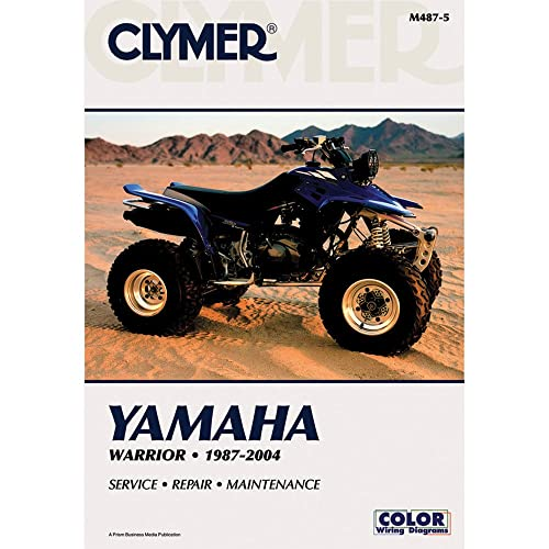 clymer repair manual for yamaha atv yfm350 warrior 87-04