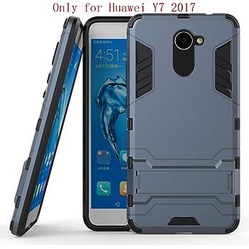 Huawei Y7 Funda, SMTR Ultra Silm Híbrida Rugged Armor Case Choque ...