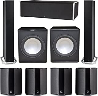Definitive Technology 7.2 System with 2 BP9060 Tower Speakers, 1 CS9080 Center Channel Speaker, 4 SR9040 Surround Speaker, 2 Premier Acoustic PA-150 Subwoofer