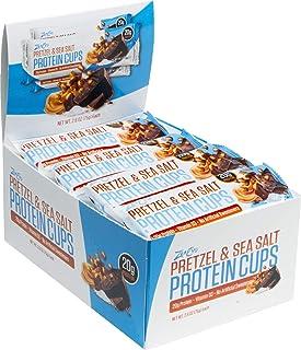 ZenEvo Pretzel & Sea Salt Chocolate Peanut Butter Protein Cups – Balanced Macros – No Sugar Spike – High Protein – Gluten ...