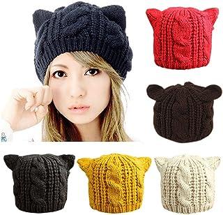 CoKate Women Winter Knit Hats, Women Warm Stretch Pom Pom Beanie Caps