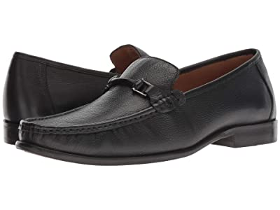 CARLOS by Carlos Santana Milagro Bit Loafer (Black Calfskin Leather) Men