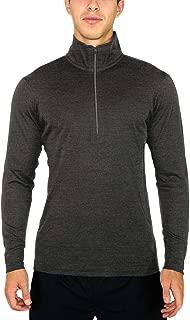 Woolx Explorer 1/4 Zip - Men's Merino Wool Base Layer Top - Midweight, Moisture Wicking Shirt